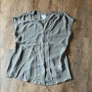 Maternity blouse - gray